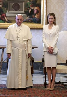 Pope Francis Meets with King Felipe VI and Queen Letizia of Spain at the Vatican.