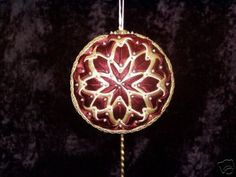 Quilted Ball Ornament.
