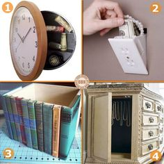"If you've ever been burgled, you know that THEY know where most people hide things. But here are some unique ideas that may just keep your goodies safe! Which of these has your name on it? Not secure enough? How about a secret room? You can view them in our ""Secret Rooms"" album on our site at http://theownerbuildernetwork.co/ideas-for-your-rooms/secret-rooms/ OK... so it's not a secret any more but share your thoughts anyway."