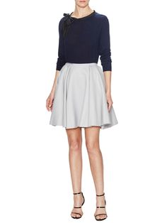 Felted Wool Circle Skirt from Designer Workwear Feat. Armani Collezioni on Gilt