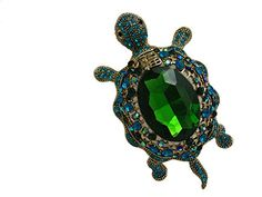Buy TTjewelry Vintage Style Tortoise Crystal Brooch Turtle Rhinestone Pin Classic Woman Animal Decorative Jewelry - Topvintagestyle.com ✓ FREE DELIVERY possible on eligible purchases