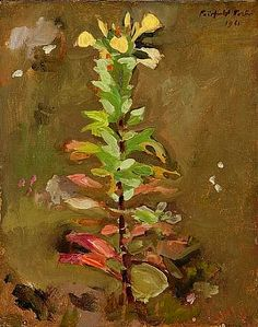 "Fairfield Porter ""Wild Primrose ""1961"