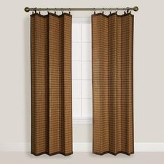 One of my favorite discoveries at WorldMarket.com: Colonial Bamboo Ring Top Curtains