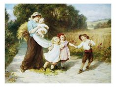 Happy Days Giclee Print by Frederick Morgan at Art.com