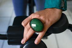 Maxi Anel Quartzo Verde