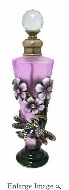 Well Jeweled Purple Dragonfly Tall Perfume Bottle