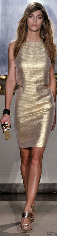 Genny Spring ~ Dress, Gold, 2015 RTW