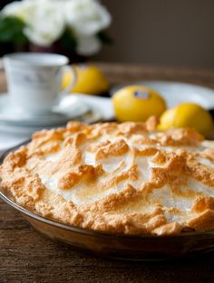 Homemade Lemon Meringue Pie: for Lemon Filling: 3/4 cup fresh lemon juice, 2 teasp lemon zest, 14 oz can condensed milk, 4 egg yolks. Whisk well.  Pour into baked & cooled pie crust. Spread meringue on top of pie and bake for 12 - 15 min until golden brown.  Cool completely before refrigerating.