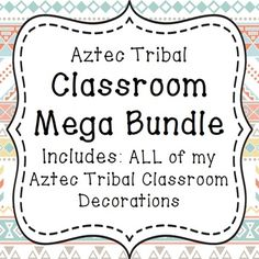 Are you a new teacher? Changing your classroom theme? This set has everything…