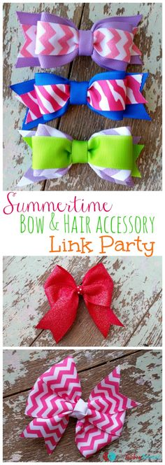 Summertime Bows Show-N-Tell Link Party - The Ribbon Retreat Blog