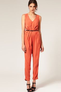 I want one!!! Asos pleated open back jumpsuit