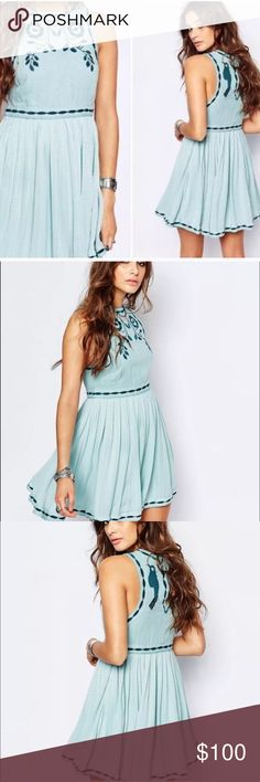 Free People Birds of a Feather Dress New with tags! Gorgeous embroidery. Free People Dresses