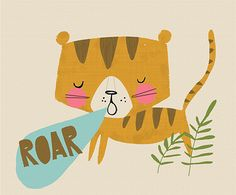 Cute tiger illustration by English illustrator Vicky Riley