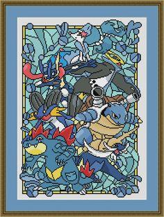 Pokemon Cross Stitch, Cross Stitch Art, Beaded Cross Stitch, Cross Stitching, Cross Stitch Embroidery, Disney Cross Stitch Patterns, Modern Cross Stitch Patterns, Cross Stitch Designs, Stain Glass Cross