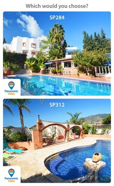 Right! Decision time is it a 5 bedroom villa in the quaint and stunning area of Campo Mijas on the Costa del Sol http://www.panoramicvillas.com/villa/spain/campo-mijas/villa-sp284/ or is it going to be another large 5 bedroom villa with pool in Benalmadena with its beach and restaurants http://www.panoramicvillas.com/villa/spain/arroyo-de-la-miel/villa-sp312/ #costadelsolvillas