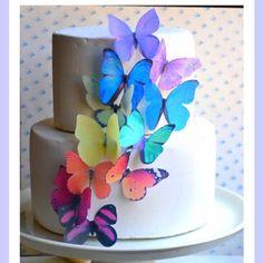 Pastel de mariposas