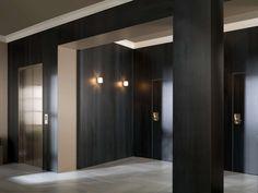 XLIGHT wall tiles Concrete Black 100x300 cm   Technical porcelain floor Concrete Grey 59,6x59,6 cm