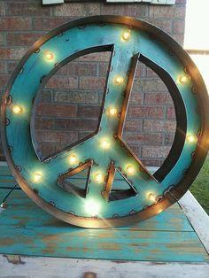 GetLitt  Peace Sign by GetLitt on Etsy, $175.00