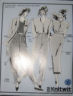 Items similar to Knitwit Pants and Skirts Pattern on Etsy Kwik Sew, Vintage Vogue, Vintage Sewing Patterns, Recycling, Trending Outfits, Unique Jewelry, Handmade Gifts, Skirts, Pants