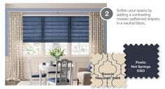 layered roman shades and drapyer