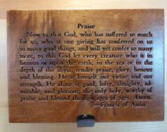 Praise prayer carving on Maple wood. This prayer dates from the century. Dates, Verses, Prayers, Carving, Let It Be, Wood, Etsy, Madeira, Woodwind Instrument