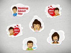 Chat Stickers for iPhone app by Intuz