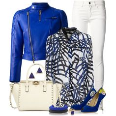 """Bright Leather Jacket"" by angela-windsor on Polyvore"