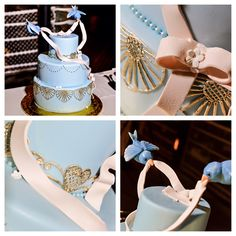 This sweet and charming cake is perfect for anyone seeking a subtle touch of princess inspiration on their wedding day