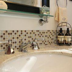Traditional Bathroom Backsplash