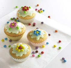 Blümchen-Muffins für Kinder Rezept | Dr.Oetker