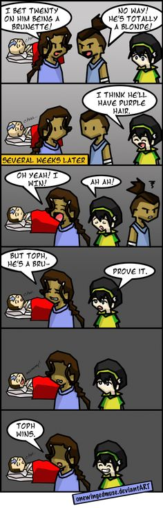 ATLA: Hair Bets Comic by OneWingedMuse.deviantart.com