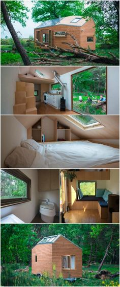 Check Out the First Legal Tiny House in the Nether… Bus Living, Tiny Living, Small Buildings, Tiny House Movement, Building A Shed, Tiny Spaces, Tiny House Design, Tiny House On Wheels, Small House Plans