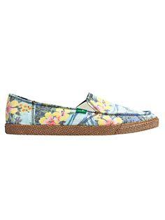 Sanuk floral shoes