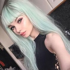 14 Pastel Hair Colors That Will Make You Consider Dying Your Hair Hair 14 Pastel Hair Colors That Will Make You Consider Dying Your Hair Mint Green Hair, Hair Color Blue, Cool Hair Color, Mint Pastel Hair, Pastel Hair Colors, Color Streaks, Unique Hair Color, Hair Colour Ideas, Pastel Style
