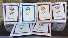 "Stampin'Up - ""Avant Garden"" Thank You Cards. Created by Julie Scaparra"