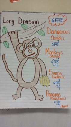 Long Division - Dangerous Monkeys Swipe Bananas (Divide, Multiply, Subtract, Bring down)