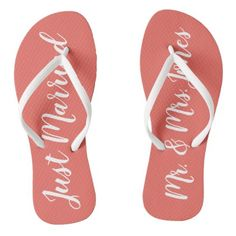 c36a20b59 31 Best Just Married Flip Flops   Wedding Flip Flops images