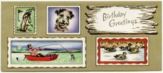 Old Design Shop ~ free printable vintage masculine birthday greeting card