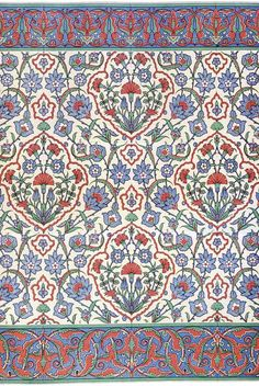 Islamic wall tiling decoration, 16th century.