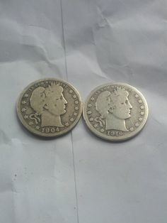 Barber silver quarters old coins 1904 1916D by DrewsCollectibles, $18.50
