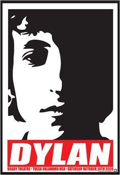 Bob Dylan Concert Poster Brady Theater 2009