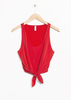 & Other Stories | Tie Top in Red
