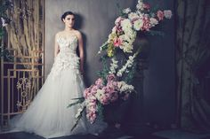 Anna Georgina Flora Wedding Dress -- Classic full tulle skirts with structured bodices, Anna Georgina's 2014 collection is romantic and ultra feminine, putting an emphasis on shape and glamorous detailing. Best Wedding Dress Designers, Designer Wedding Dresses, Beautiful Bridal Dresses, Wedding Dresses 2014, Classic Wedding Dress, Mod Wedding, Bridal Collection, Bridal Gowns, Anna