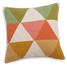 Cojín de algodón con triángulos multicolores 50x50 cm LIPARI