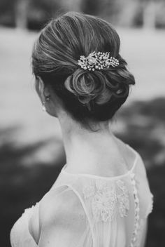 updo wedding hairstyle idea; photo: Noelle Ann Photography