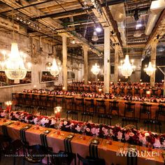 Warehouse wedding featured in Wedluxe magazine