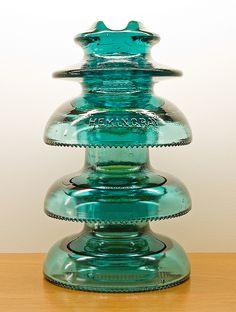 CD 248-311-311, HEMINGRAY, Aqua by monon738, via Flickr Antique Bottles, Vintage Bottles, Bottles And Jars, Glass Bottles, Vintage Perfume, Perfume Bottles, Electric Insulators, Insulator Lights, Glass Insulators