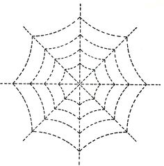 Spider Web Tracing and Coloring