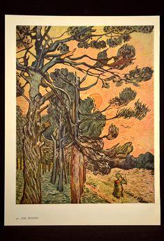 """Pine Trees against a Red Sky with Setting Sun"".Vincent van Gogh Painting, Oil on Canvas Saint-Rémy: November, Museum Otterlo, The Netherlands, Europe. Van Gogh Pinturas, Vincent Van Gogh, Van Gogh Art, Art Van, Paul Gauguin, Van Gogh Paintings, Sunset Paintings, Sun Art, Dutch Painters"
