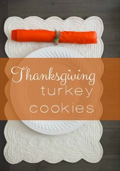 Make homemade handprint turkey cookies with your kids as a great Thanksgiving craft project.